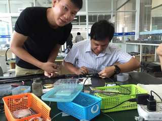 Flexible endoscope repair training